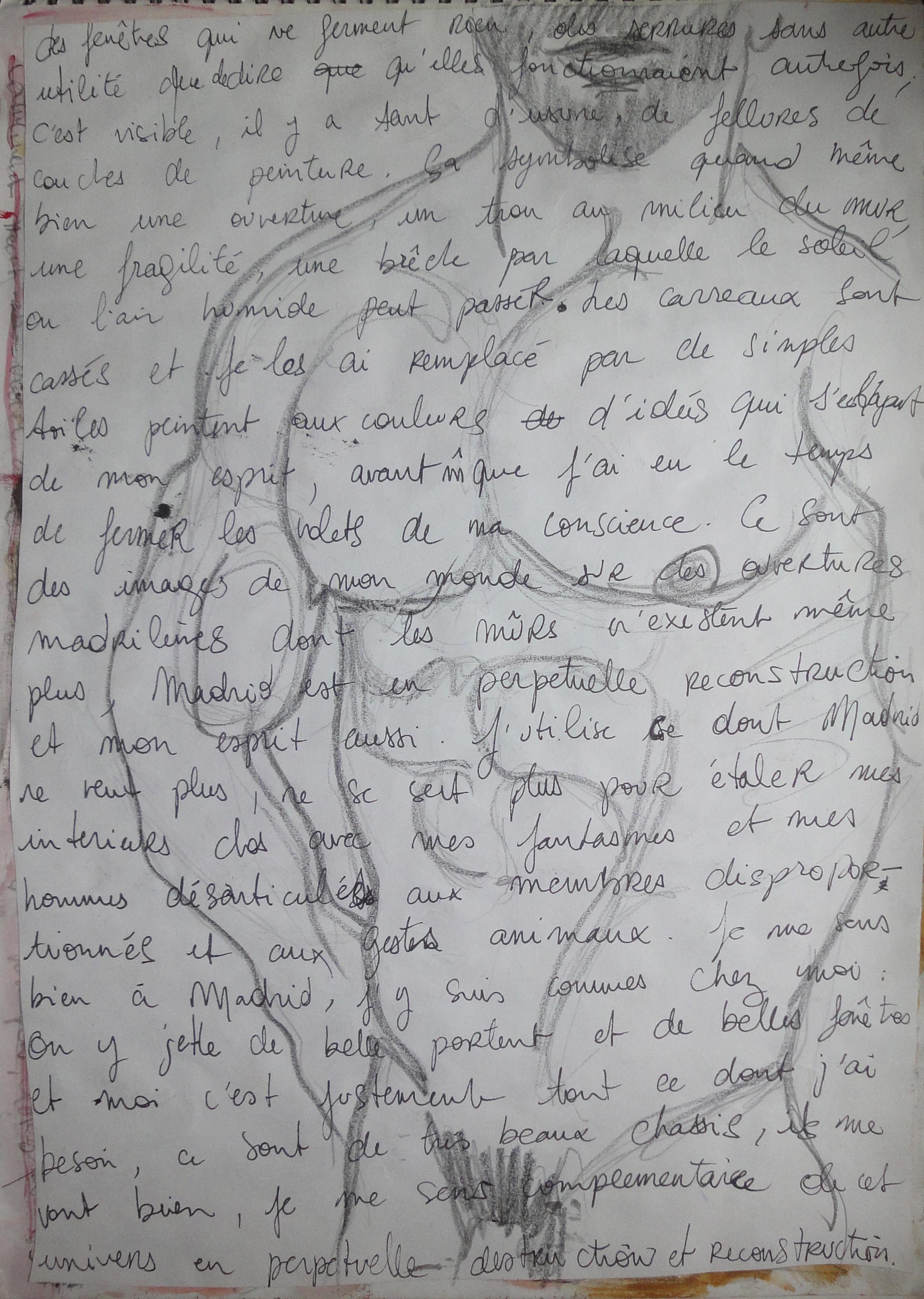 Croquis sur manuscrit