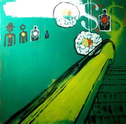 Sushi train 3 (Hommage à Basquiat)