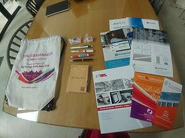 11 Souvenirs and brochure in delegate ba