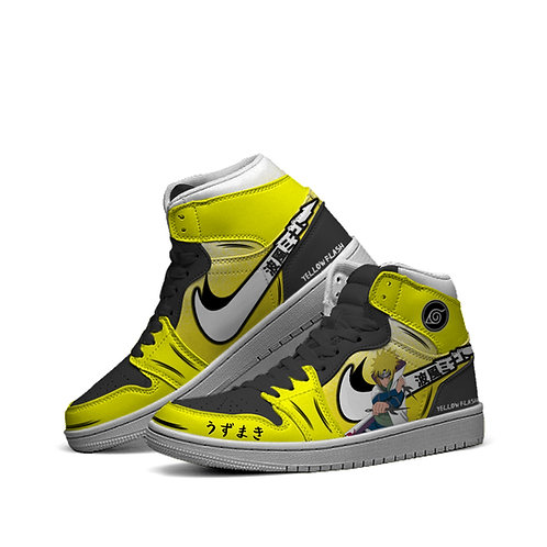 """Yellow Flash"" Hightop Sneakers"