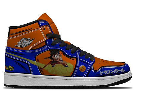 Son Goku Nimbus Custom Hightop Sneakers
