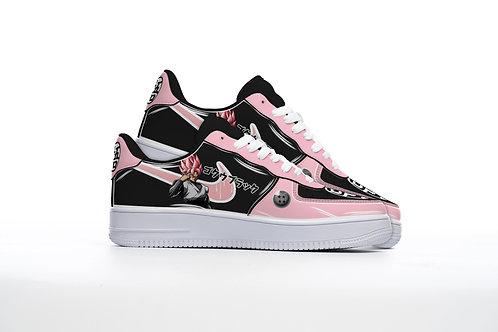 """""""BLACK ROSE"""" Custom Lowtop Sneakers"""