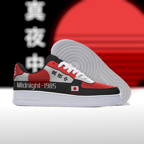 """MIDNIGHT-1980s"" Custom Lowtop Sneakers"