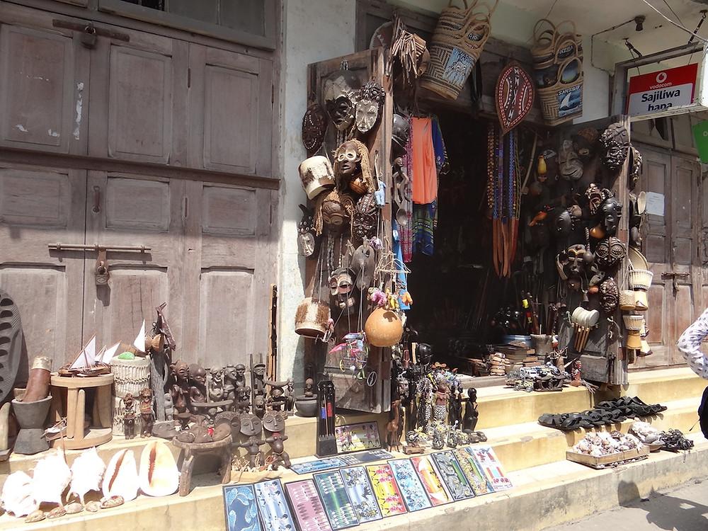 Sklepik z pamiatkami - Zanzibar Stone Town