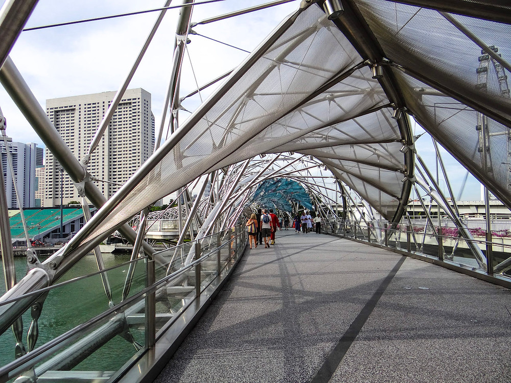 Spiralny Most - Marina Bay Singapore