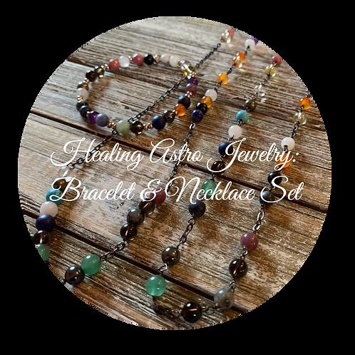 Healing Astro Jewelry: Bracelet & Necklace Set