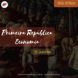 Primeira República: Economia