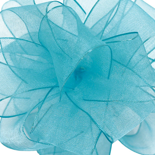 Offray WIRED ORGANZA 1 1/2'' TURQ 25 YARDS