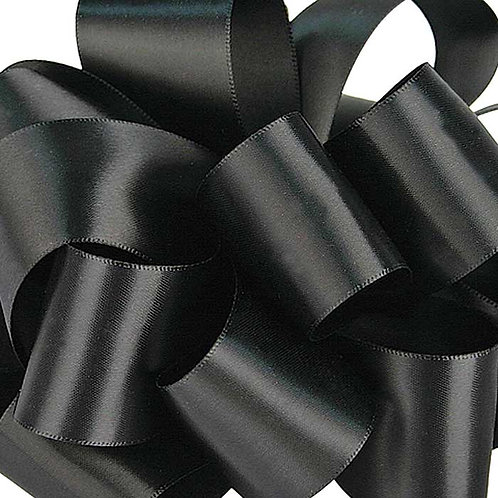 Offray Double Face 1/4'' BLACK 100 YARDS