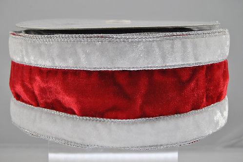 RIBBON SANTA 4X10 RED/WHITE