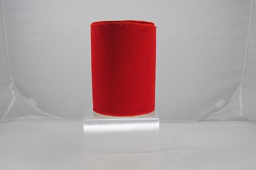 RIBBON VELVET FUSED 6X10 RED