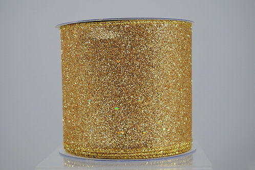 RIBBON GLITTER 2.5X10 GOLD