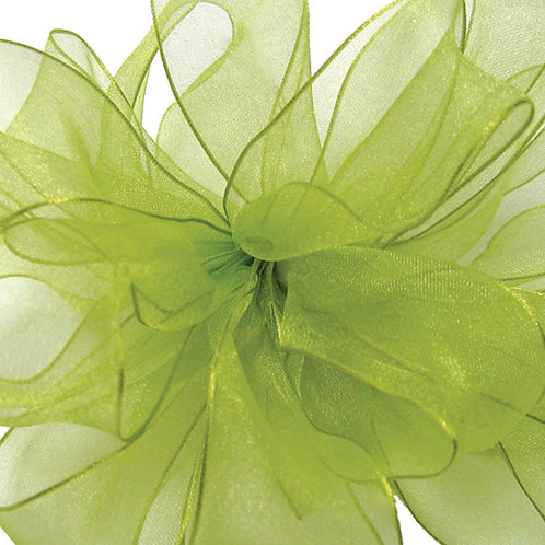 Offray WIRED ORGANZA 2 1/2'' LIME 25 YARDS