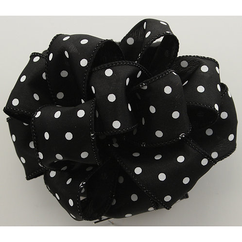 Offray WIRED POLKA 1 1/2'' BLACK 50 YARDS