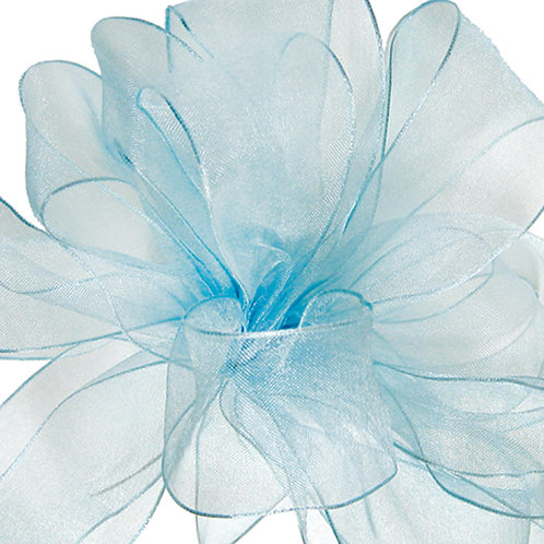 Offray WIRED ORGANZA 2 1/2'' LTBLUE 25 YARDS