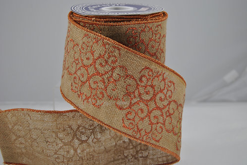 RIBBON TUSCANY 4X10 COPPER