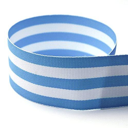 Stripped GG 1 1/2'' BABY BLUE TAFFY  50 YARDS
