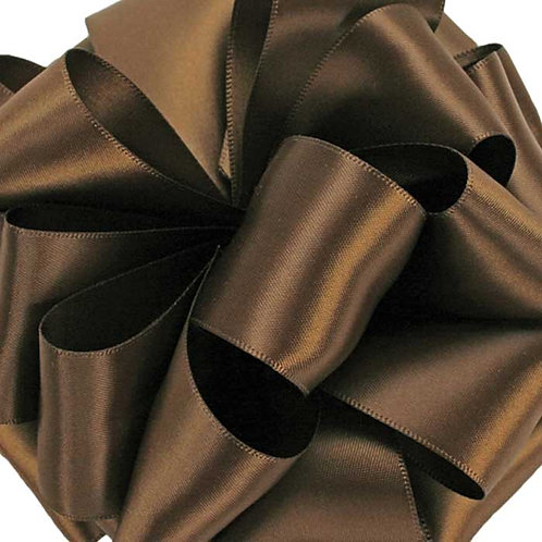 Offray Double Face 3/8'' MILK CHOCOLATE 100 YARDS