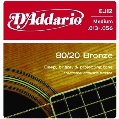 D'Addario 80/20 Medium Bronze Strings (EJ12)