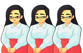 Character Art for a personal video game project, showing different character expressions