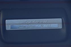 Plaque limitation Porsche 964 Jubilé de 1993
