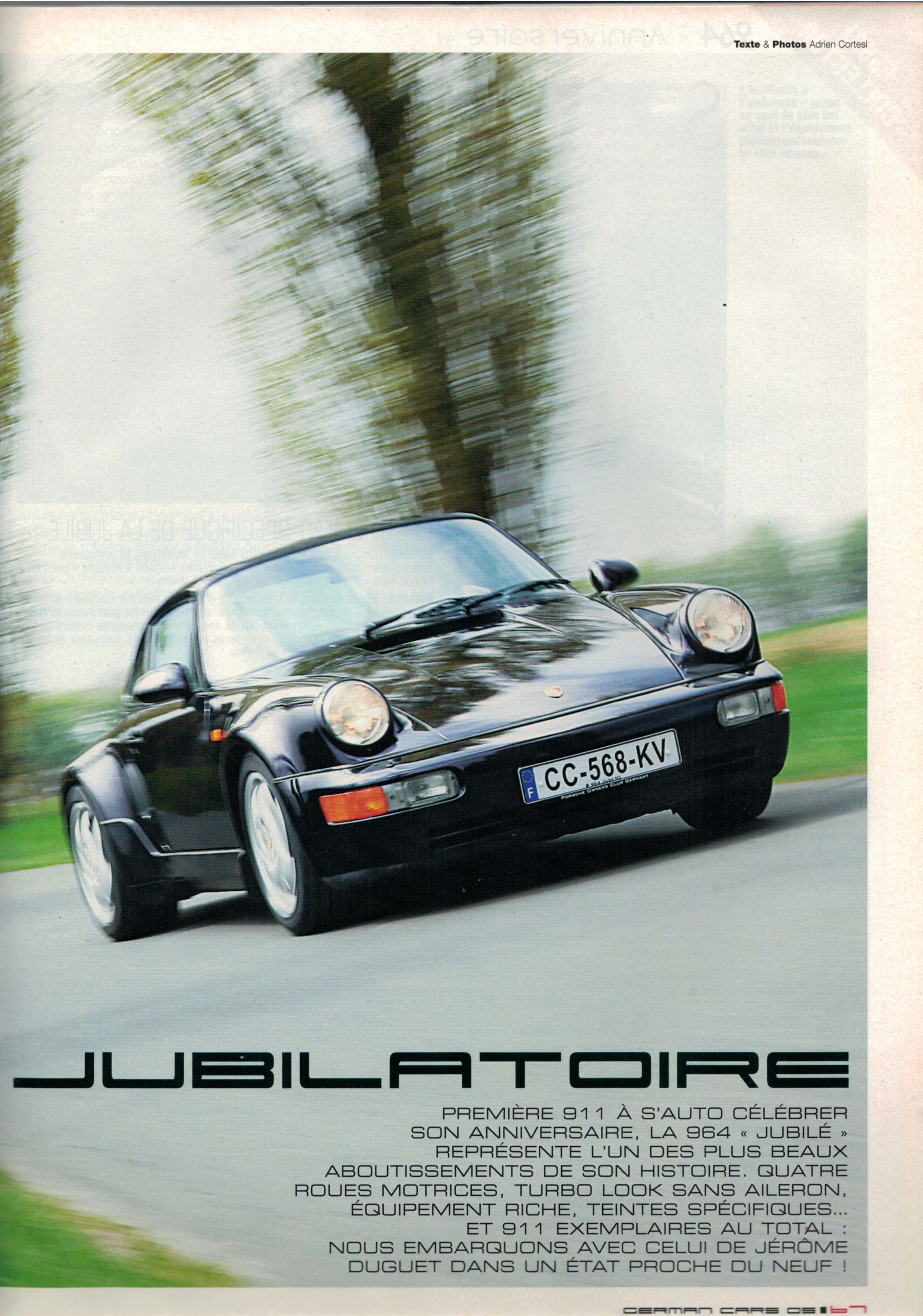 German Cars Porsche 964 Jubilé