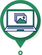 Icon of Virtual Gallery on laptop
