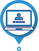 Icon of Virtual Conference Webinar on laptop