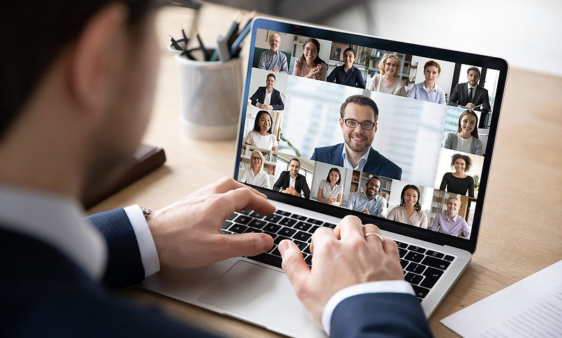 Virtual Conference in laptop