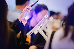 Event delegate making registration on a mobile device