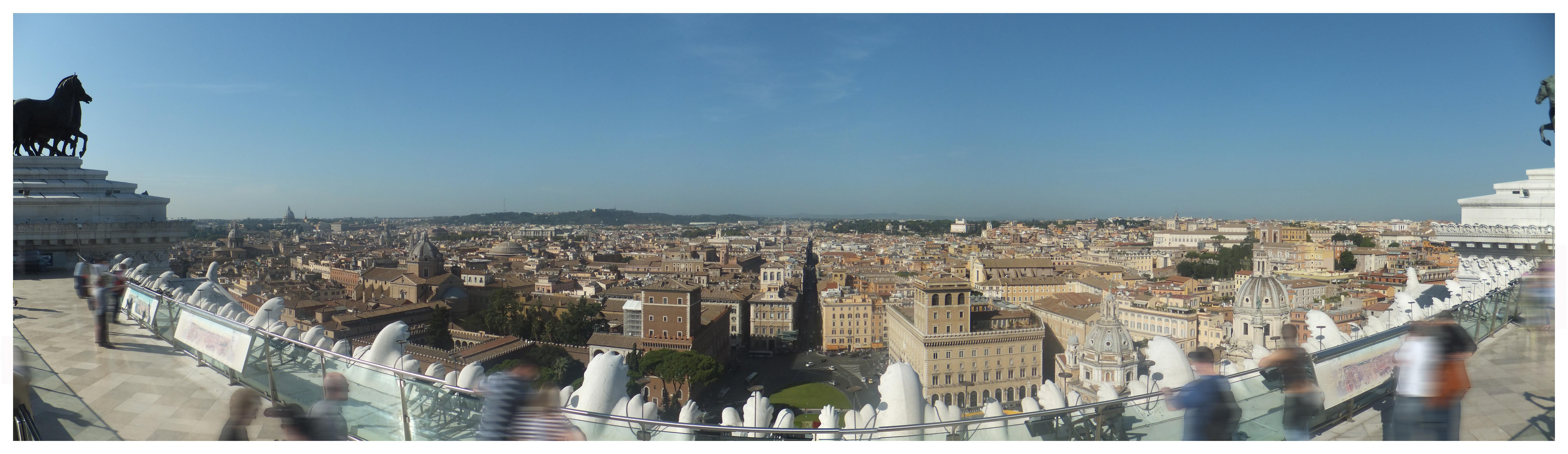 Vittoriano Museum Roof Terrace Pano