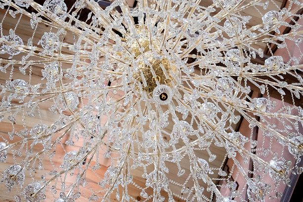 Up close of one of our chandeliers