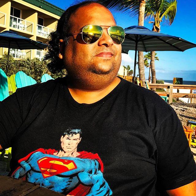 Ready for a Super Day in Vero Beach #verobeach #super #selfie #superman #ocean #oceanside #discover