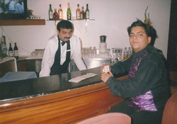 entertaing the bar man at guestline days mumbai, india