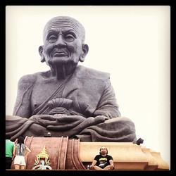Adopting Buddhas posture