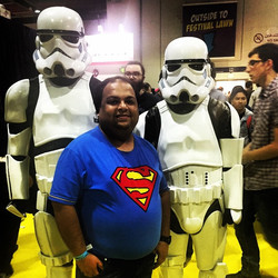 Sharing some smiles with my mates from Starwars #star #wars #smiles #jedi #funtime #comics #comicon