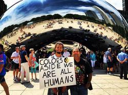 Colours Aside We are all Humans #millenniumpark #downtown #explore #city #citylife #coloursaside #co