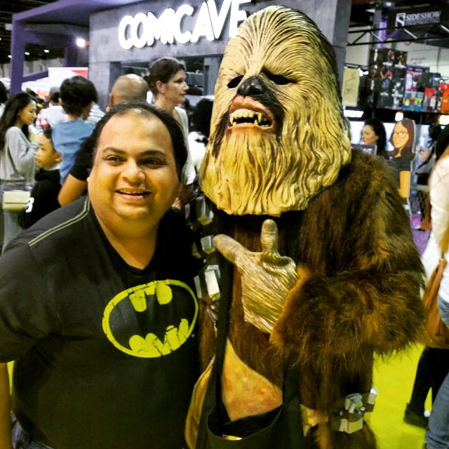 Batman meets Chewbacca #chewbacca #starwars #mefcc #comicon #comics #comicave #bat #batman #dccomics