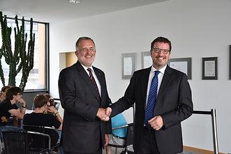 Prof. Dr. Dr. h.c. Jürgen Lehmann, Hochschule Hof und Oliver Bialas