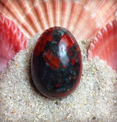 Bloodstone yoni egg (medium undrilled)