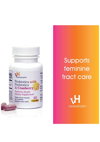 Probiotics with Prebiotics and Cranberry Feminine Health Supplements
