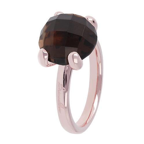 WSBZ00013S14 Bronzallure FELICIA COCKTAIL Ring Braun Rosévergoldet