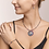 Thumbnail: Armband Amulett small Swarovski® Kristalle & Achat multicolor Ethno