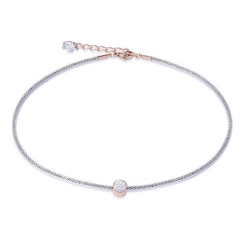 Coeur de Lion Halskette Kristalle Pavé & Mesh kristall 0218101800