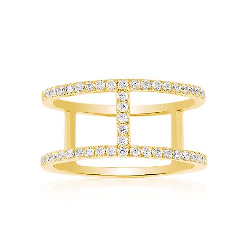 A16876OXY APM Monaco CROISETTE Ring Gelbvergoldet