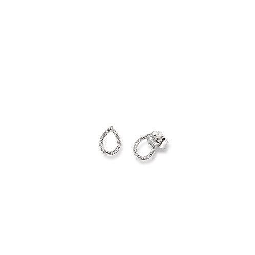 Palido Ohrringe Weißgold Diamanten Tropfen K11202
