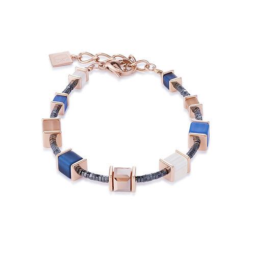 Armband GeoCUBE® Swarovski® Kristalle & Polaris blau-beige 4945300710