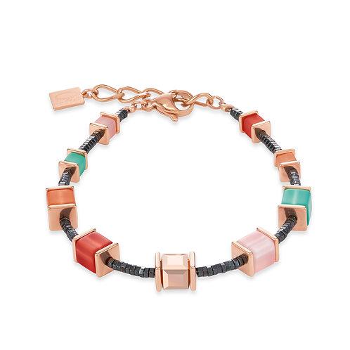 Armband GeoCUBE® Swarovski® Kristalle & Polaris koralle-mintgrün 4945300231