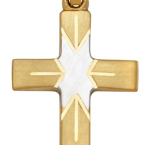 K04 SCHNEIDER BASICS Kreuzanhänger aus Gelbgold