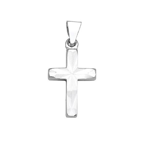 TG07 SCHNEIDER BASICS Kreuz Anhänger Weißgold